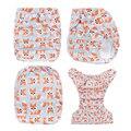 Envío Gratis 1 unids Impreso Pañales Lavables Pañales de Tela Reutilizables Pañales Para Bebés