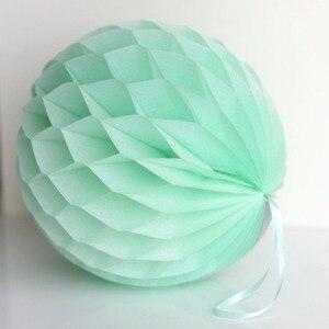 Мятно-зеленый тканевый мяч с бумажными сотами, 10 шт. в упаковке