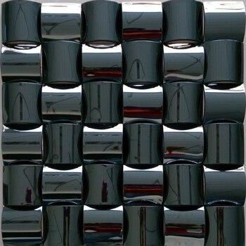 3D konvexen design edelstahl metall mosaik fliesen für küche backsplash  fliesen veranda wohnzimmer fliesen badezimmer dusche