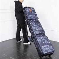 Лыжный сноуборд сумка с колесами 152 см 165 см один двойной пластины диски лыжи посылка одноплатный посылка ролик большой ёмкость сумка