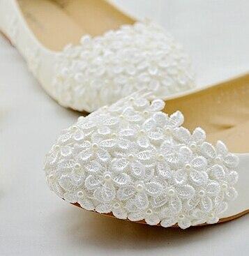 100% handmade womens wedding shoe fashion bridal shoe lace flower decoration XNA 084