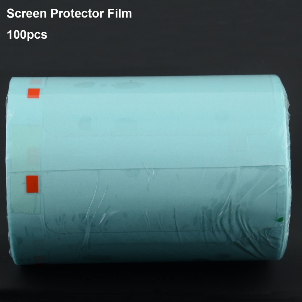100PCS LCD Screen Protector Film For iPhone X 4 4s 5 5s 6 6s 7 8 Plus Phone Touch Panel Refurbished Renew