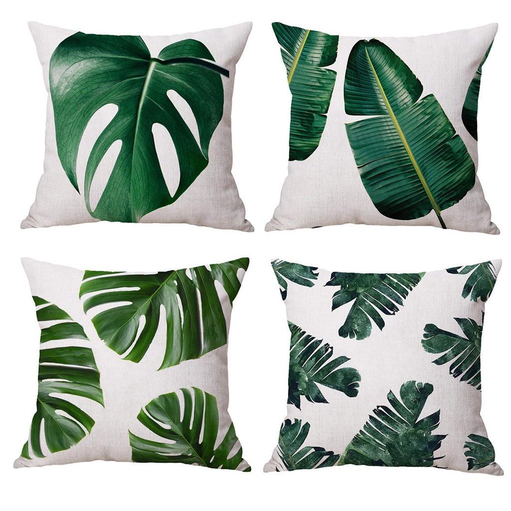 Cucire Cuscino Senza Cerniera us $7.49 35% di sconto fodere per cuscini cuscini decorativi foglie  tropicali 4pcs coperte e plaid cuscino coperture autunno decorativo divano  federe
