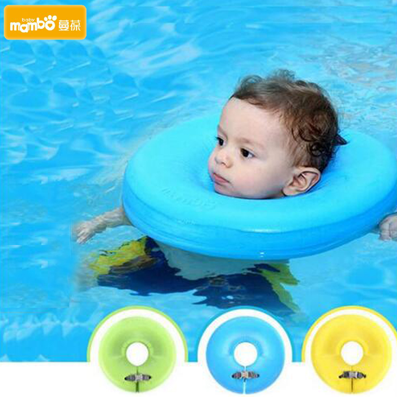 Mambobaby Neck Float Swimtrainer No need pump air More Safety Swimming Ring Free inflatable collar Baby Neck Swimming Ring neck ring no need pump air more safety non inflatable swim ring free inflatable baby neck swimming ring 3 36months bath toy gift
