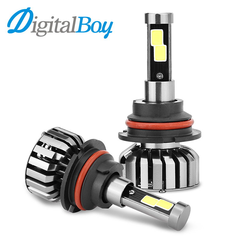 Digitalboy 9007 LED Headlight Bulbs HB5 80W Car LED Headlamp Hi/Lo Beam Automobile Conversion kit 6000k Car Front Lighting 12V