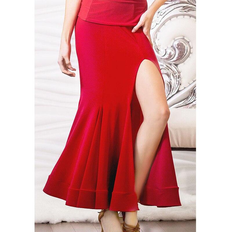2018 New Sexy Split High Quality Ballroom Ladies Latin Dance Skirt Cha Cha Samba Competition Dancing