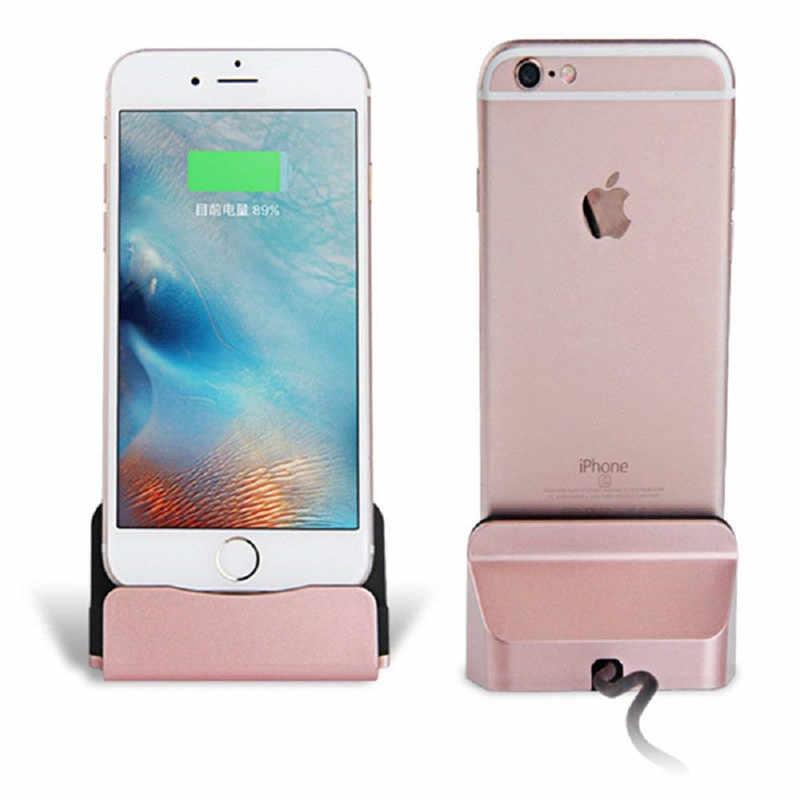 Cho iPhone Dock Sạc Máy Tính Để Bàn Chân Sạc Ga USB cho iPhone SE/5/5S//5C //6/6 S/7/8/Plus X/iPod Nano/iPod Touch