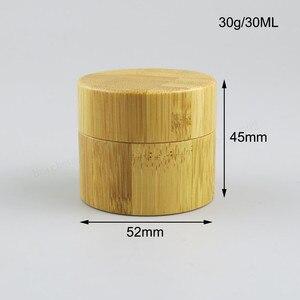 Image 3 - Копилка для косметики из натурального бамбука, 12 шт., 10 г, 30 г, 50 г
