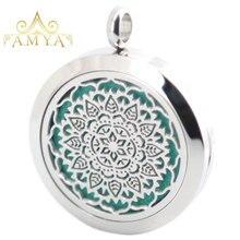 AMYA серебряные ювелирные изделия цветок стрекоза лошадь Ароматерапия Эфирные масла нержавеющая сталь кулон Духи диффузор ожерелье медальон