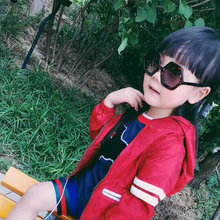 2 Color Autumn Kids Clothes Fashion Lines Pattern Outfits Cotton Long Sleeve Trench Coat Spring Coat