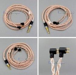 LN006049 100ohm 3.5mm 2.5mm 4.4mm TRRS Balanced 8 Core OCC Silver Mixed Earphone Cable For Etymotic ER4B ER4PT ER4S ER6I ER4