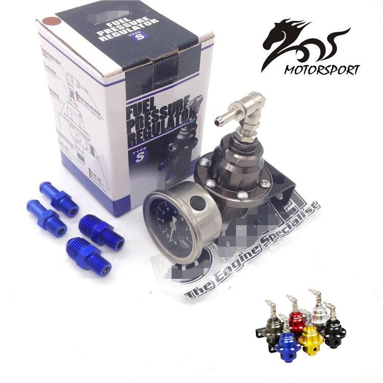 Stormcar regulador de presión de combustible ajustable universal Tomei tipo con indicador original e instrucciones