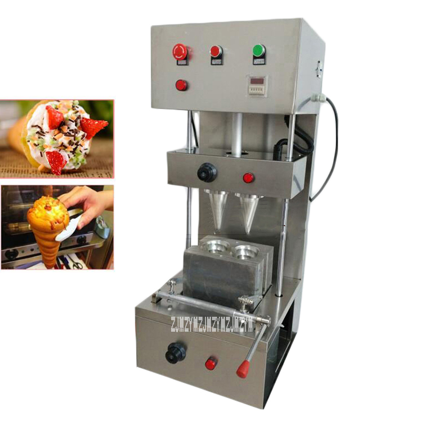 Popular Commercial Automatic Stainless Steel 2 Heads Spiral Cone Pizza Cone Making Machine 220V/110V 2KW High PowerPopular Commercial Automatic Stainless Steel 2 Heads Spiral Cone Pizza Cone Making Machine 220V/110V 2KW High Power