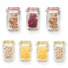 Paquete de protección de frescura de sello reutilizable de Color aleatorio bolsa de comida fresca selladora al vacío bolsa de almacenamiento de leche de fruta
