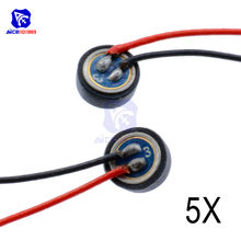 5 stks/partij 4*1.5mm Electret Condensator Microfoon MIC Capsule 2 Leads W(China)