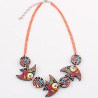 Poissons collier acrylique impression motif animal pendentif bijoux de mode pour les filles femmes accessoires livraison gratuite