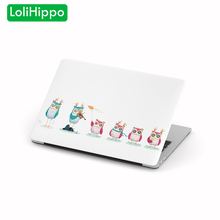 LoliHippo Animal Owl Series Laptop Computer Protective Case for Apple Macbook Air Pro 11 13 15 Inch Retina Notebook Hard Cover