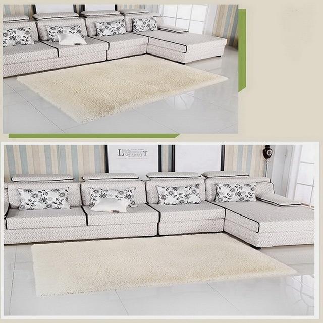 Beige crème kleur super zachte carpet woonkamer/slaapkamer antislip ...