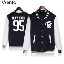 Vsenfo Kpop Twice Hoodie NAY EON JUNGYEON MOMO SANA JIHYO CHAE YOUNG MINI DAHYUN CHAE YOUNG Sweatshirt For Boys Girls Baseball
