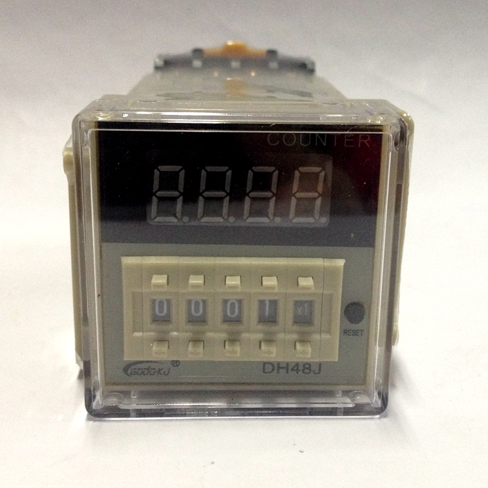 220V DH48J-8 Digital display counter Relay ,1-999900 LED display 8 pin panel installed SPDT present number digital counter ac380v panel mount 8p 1 999900 count range digital counter relay dh48j dpdt