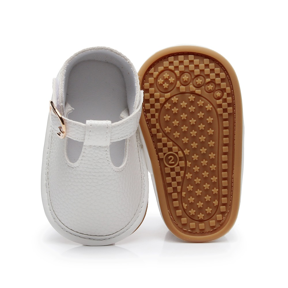 2019 New Style  Baby Shoes PU Leather Sandals Infant Girl Boys Hard Sole Mary Jane T-strap Baby Sandals 0-18 Months