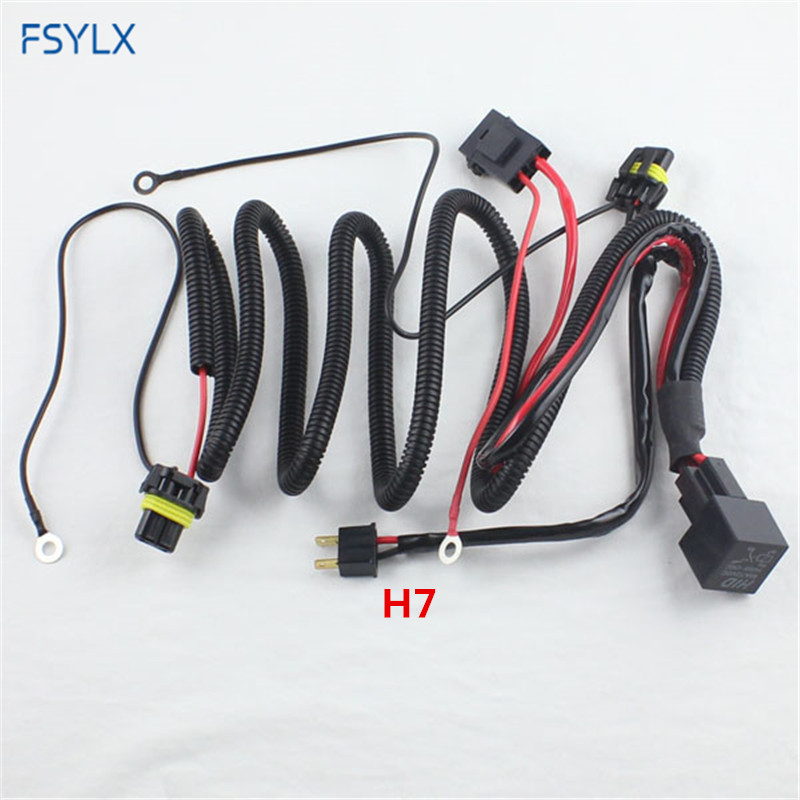 FSYLX 35W 55W 9006 9005 H11 H7 H3 Xenon Relay harness HID headlight fog light Wiring Harness Adapter connector Strengthen cables(China)