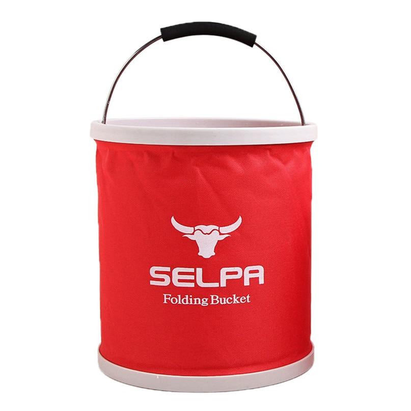 Outdoor Folding Bucket Camping Bucket Environmental Friendly Portable Folding Barrel 11L Storage Compressed bucket #2o05 (2)