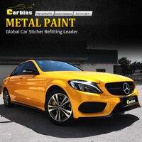 CARBINS Film Metal Paint Maple Yellow Vinyl Car Wraps Foil Premium Quality
