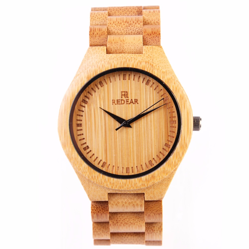 ФОТО New Top Brand Fashion Men Maple Wood Watches Luxury REDEAR Sandalwood Natural Bamboo Wooden Watches Men In stock