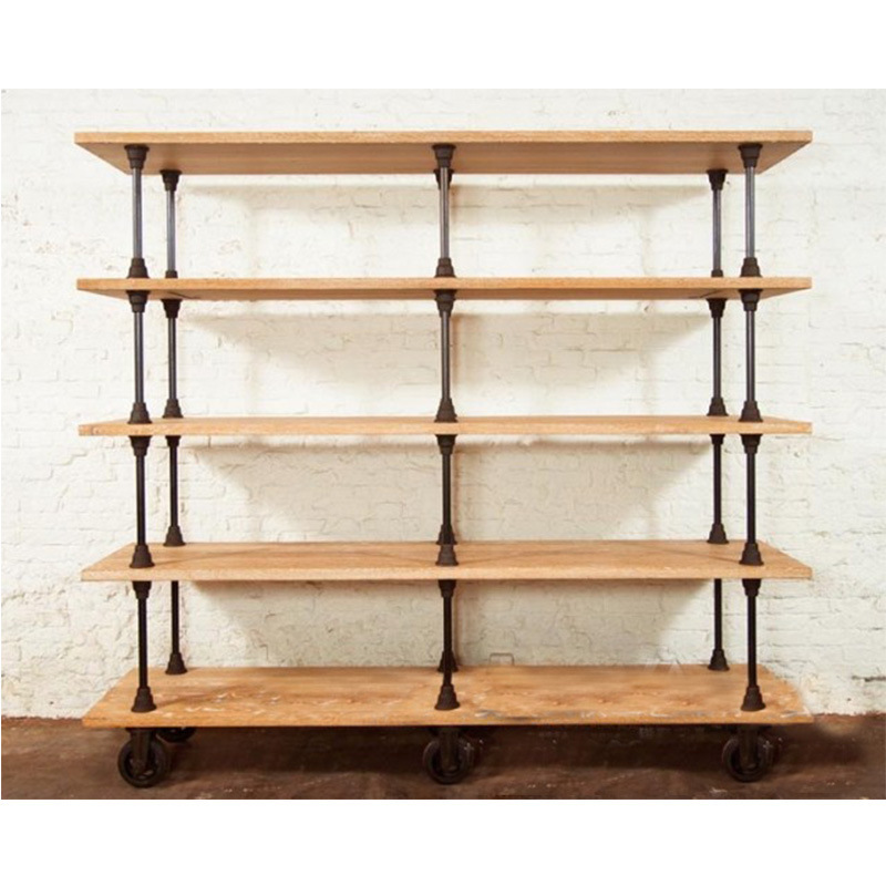 Cabinet Shelf Picture More Detailed About American Iron Vintage Pulley Movable Sideboard Solid Wood Dining Room