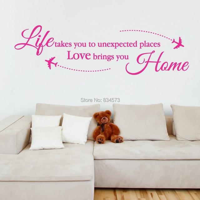 liebe bringt sie home reise urlaub wandkunst aufkleber aufkleber, Hause ideen