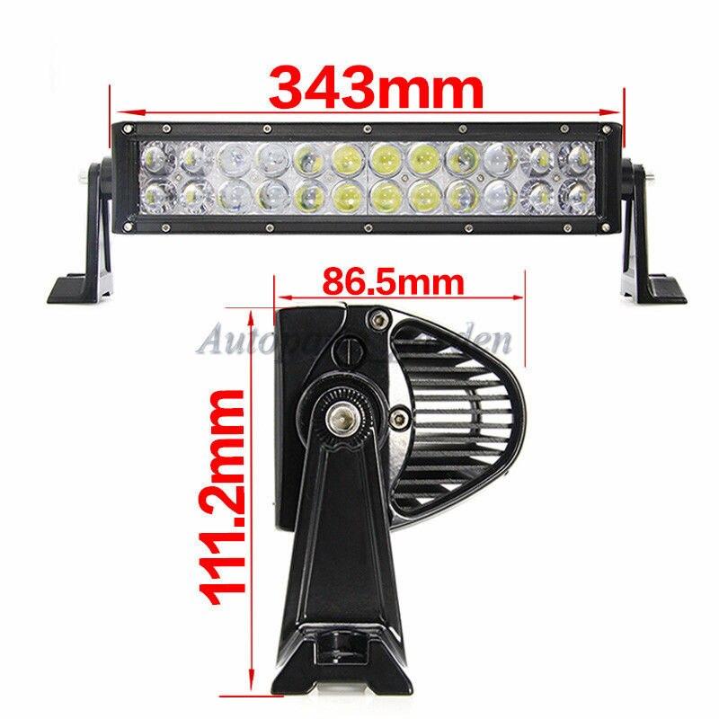 14 Inch 120W 4D LED Work Bar Light Straight Combo Beam for Off-road Driving Truck Trailer SUV ATV UTE 12V 24V+Harness Wire