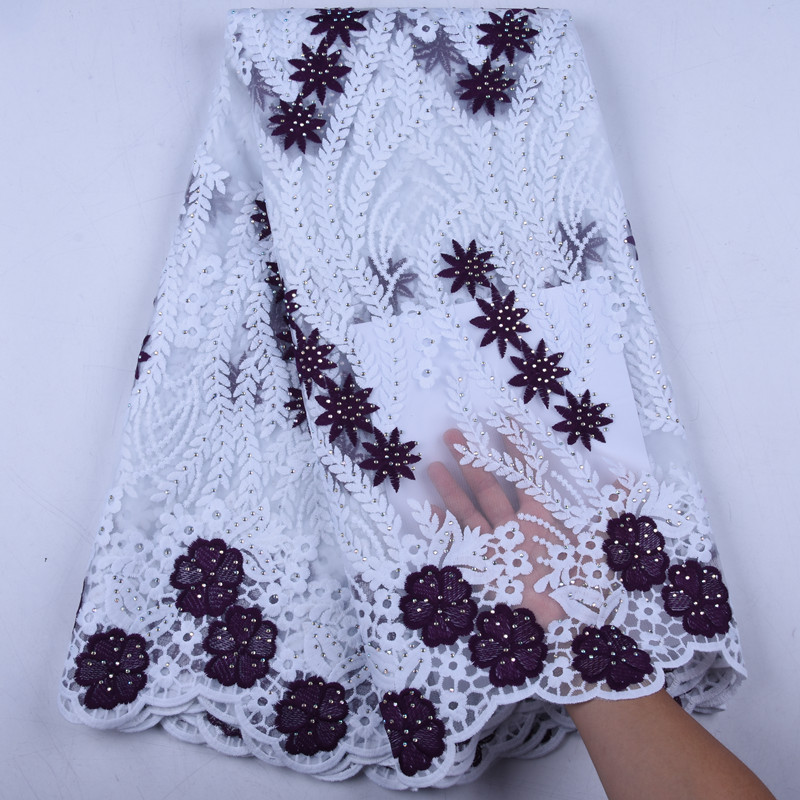New Design Milk Silk Nigerian Lace Fabrics African Lace Fabrics High Quality Embroidery French Net Lace Fabric For Wedding Y1571