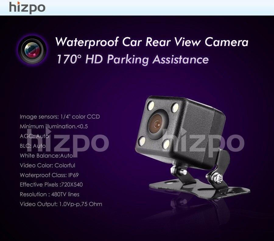 Ayuda impermeable del estacionamiento del coche cámara de visión o estacionamiento Monitores CCD Alambres cámara de visión trasera para Android/WinCE Coche reproductor de DVD