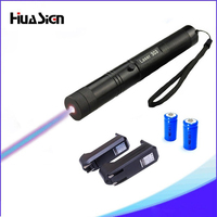 High Quality Blue Laser 303 Lazer Pointer Presenter With Safe Key+2*16340 Battery+16340 Charger