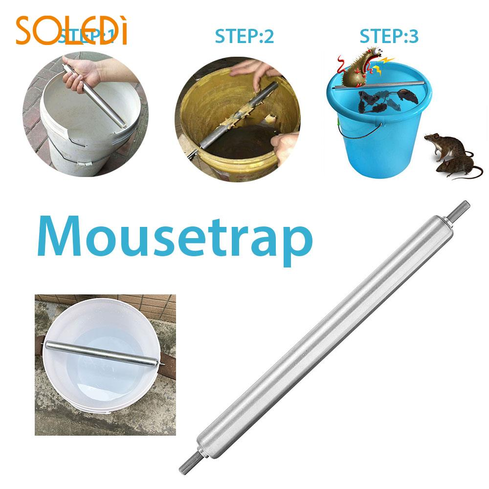 Alloy Rolling Mouse Trap NEW Durable Automatic Mouse Roller Mice Repellent Kill Auto Reset Dorpshipping