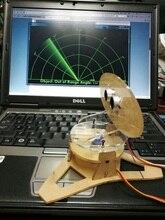 TỰ LÀM Acrlic Micro Siêu Âm Radar Duino Ứng Dụng cho Giáo Dục Học 400mm Phát Hiện Khoảng Cách Siêu Âm Thanh Thu Phát