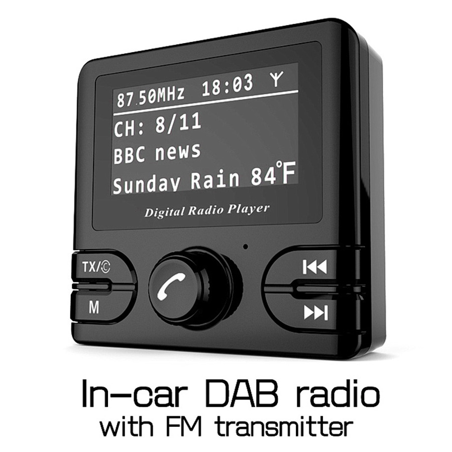 Universal DAB Car Radio+ Radio Receiver+ FM Transmitter Bluetooth Handsfree In Car DAB Radio Tuner with Antenna Support TF Card 2 din car radio mp5 player universal 7 inch hd bt usb tf fm aux input multimedia radio entertainment with rear view camera