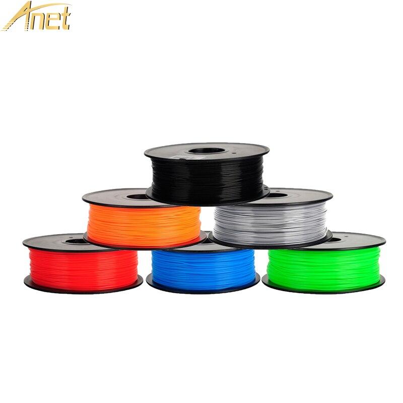 Anet 3D Imprimante Filament 1 KG/1.75 Bobine ABS/PLA tige en plastique Ruban Consommables Matériel Recharges Pour Mendel 3D stylo 3D Imprimante