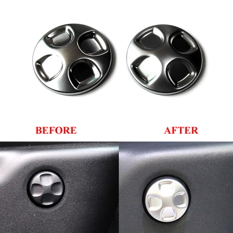 ABS Car Side Seat Adjust Adjustment Switch Button Cover Sticker For Jeep Grand Cherokee 2014-2017 For Dodge Journey For Freemont