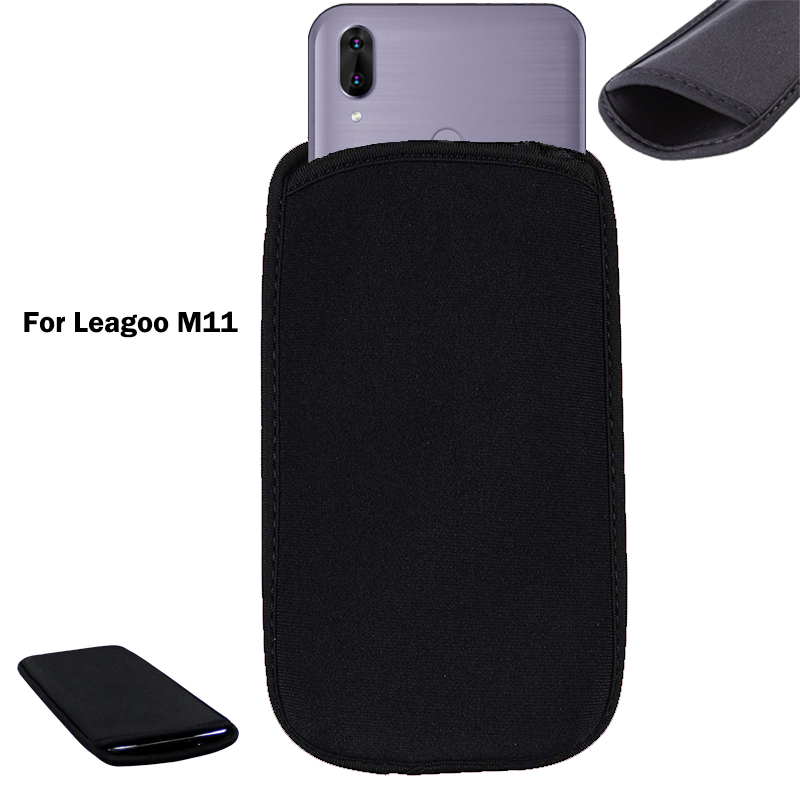 For Leagoo M11 Soft Flexible Neoprene Protective Black Pouch For Leagoo M11 Elastic Sleeves Universal Bag Case