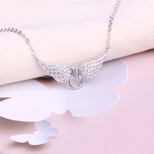 Real sterling silver 925 angel wing necklace in jewelry pendant necklace chain with CZ fashion silver jewelry making for women hot sale sterling silver 925 palm devil s eyes necklace in jewelry pendant necklace dangle with cz chain necklace for women