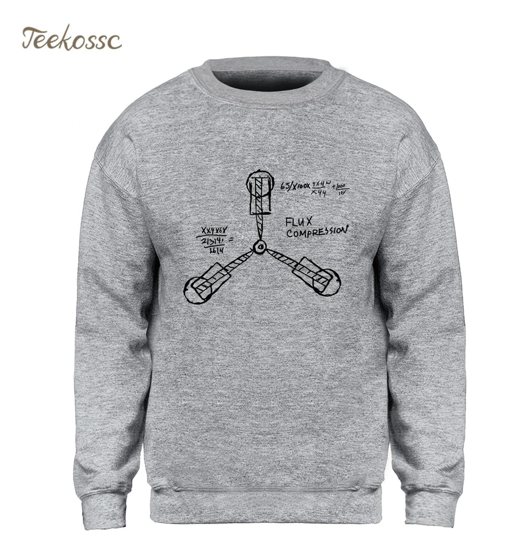 Volver al futuro sudadera hombres Funny impresión Gary Crewneck sudaderas 2018 Otoño Invierno lana caliente Streetwear Homen