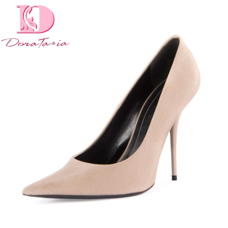 DoraTasia 2018 brand shoes women sexy thin high heels more colors customized woman pumps party weding shoes large sizes 34-43 doratasia embroidery big size 33 43 pointed toe women shoes woman sexy thin high heels brand pumps party nightclub