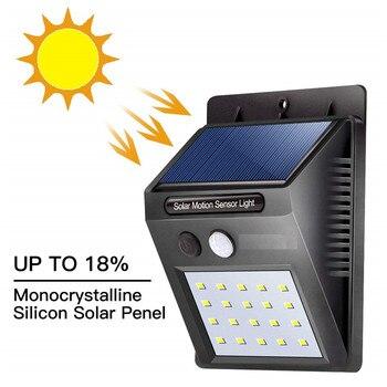 Led Sensor De Movimento Luz Solar Lâmpada De Energia Solar Para Decoração Do Jardim à Prova Dwaterproof água Ao Ar Livre Iluminação Super Brilhante Lâmpada De Parede Segurança