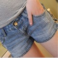 2017 New Summer Korean Women Skinny Zipper Decoration Denim Shorts