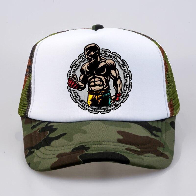 57d5bd4d Men Baseball cap Brand summer rest Funny cap boxer Fitness trucker cap  outdoor Mesh Men women snapback dad hat