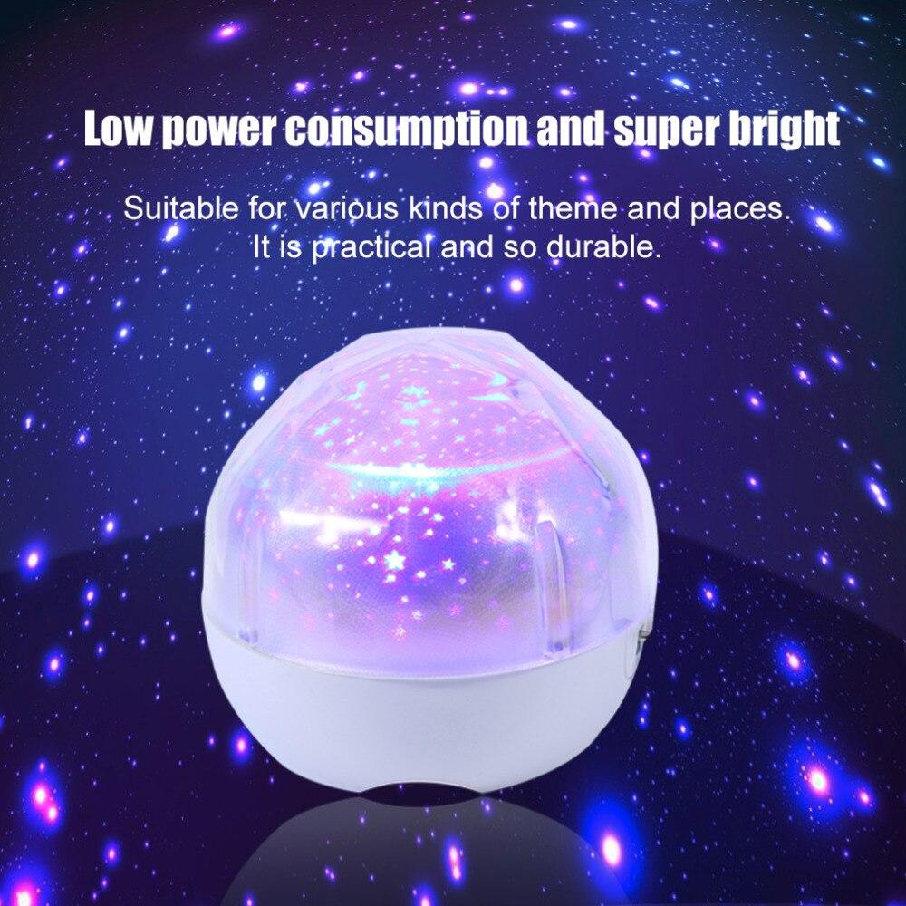 Four seasons star projector lamp - Star Sky Usb Intelligent Three Dimming Flash Magic Projection Lamp Bright Kid Bedsides Led Projector Light