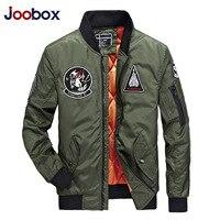 JOOBOX Marca 2017 Fashion Bomber Degli Uomini di Spessore Caldo Autunno Inverno Moto Militare Ma-1 Volo Pilota Air Force cappotto