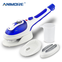 ANIMORE Handheld Garment Steamer Portable Home and Travel Fabric Steamer Fast Heat Up Removable Water Tank Steam Iron GS 01